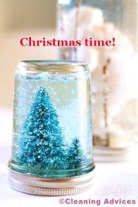 Christmas time - How to make a snow globe