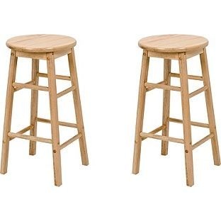 Buy Pair of Natural Wooden Kitchen Stools at Argos.co.uk - Your Online Shop for Bar stools and chairs.