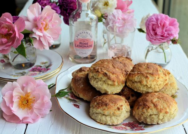 Lavender and Lovage | Floral Sunday Baking: Old-Fashioned Rose Lemonade Scones Recipe | http://www.lavenderandlovage.com