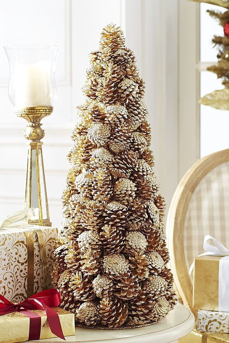 Natal Enfeites Pine Cone Decorations Easy Christmas Crafts Cone Christmas Trees