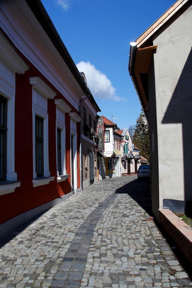 .Narrow street in Szentendre, Hungary