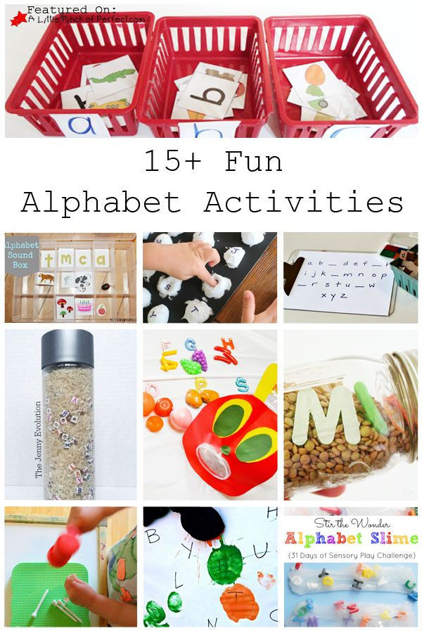 15 Fun And Easy Sewing Projects For Kids: 15 Fun Alphabet Activities-hands On Activities, Free