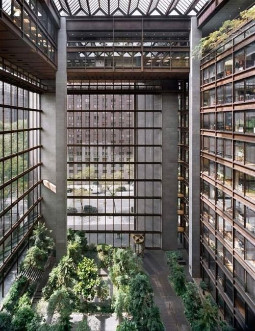 fineinteriors: Ford Foundation Atrium NYC. The Landscape...