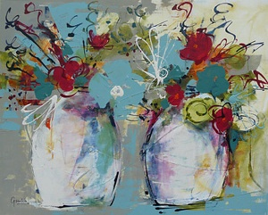 Lara's Flowers web by Julia Forman Acrylic ~ 800 x 1000