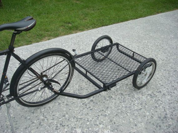Bicycle Cargo Trailer Flat Black Big Ass by JamesGlassCompany, $269.00.  I have dreams of living virtually car-free all summer at the beach.