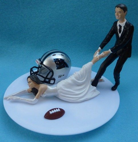 wedding cake seattle carolina panthers g football themed wedding cake topper 24246