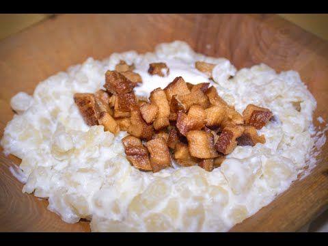 Naučíme vás připravit pravé slovenské halušky s brynzou - YouTube