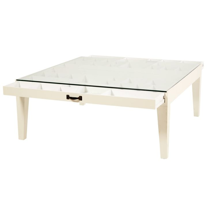 Tempered Glass Coffee Table With Drawers: Solid Fir And Tempered Glass 1-Drawer Coffee Table With