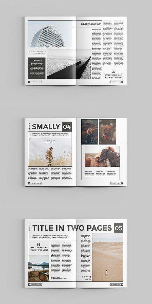 Vorlage Fur Nomad Indesign Magazin Magazine Brochure Template Brochuretempla Book Design Layout Page Layout Design Magazine Layout Design