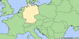 Map showing the location of Munich. Click map to see the location on our worldwide Time Zone Map.