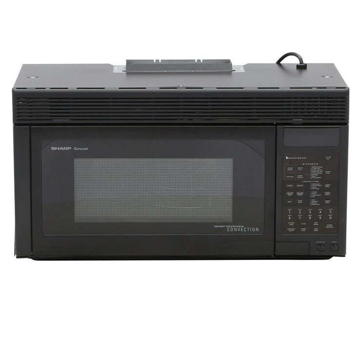 Sharp 1.1 cu. ft. 850-Watt Over the Range Convection Microwave Oven in Black
