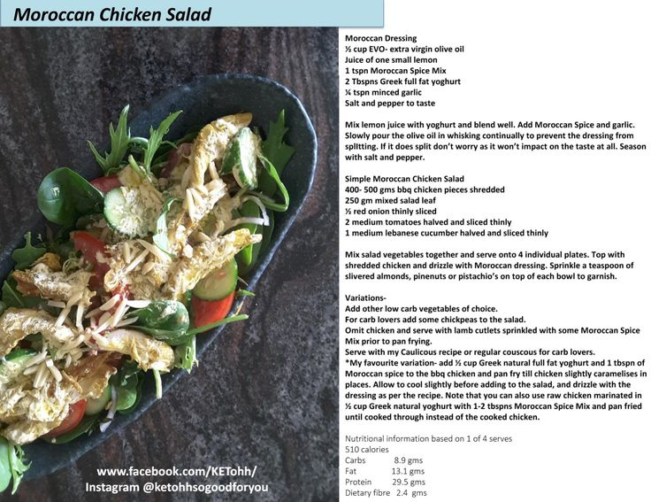 Low carb Asian Chicken Salad. KETohh- Delicious and easy to make recipes with an emphasis on being healthy, low carb and sugar reduced. For this recipe and more check out www.facebook.com/KETohh/ and on instagram @ketohhsogoodforyou