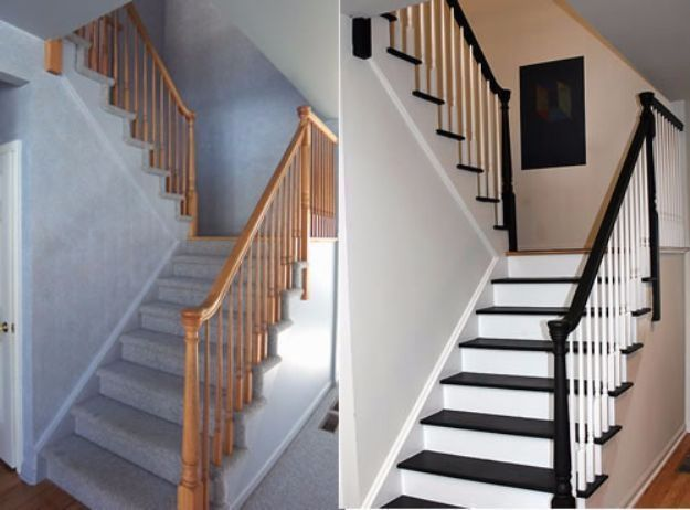 DIY Home Improvement On A Budget - Paint Your Stairs - Easy and Cheap Do It Yourself Tutorials for Updating and Renovating Your House - Home Decor Tips and Tricks, Remodeling and Decorating Hacks - DIY Projects and Crafts by DIY JOY http://diyjoy.com/diy-home-improvement-ideas-budget #homedesignonabudget #diyhomedecoronabudget
