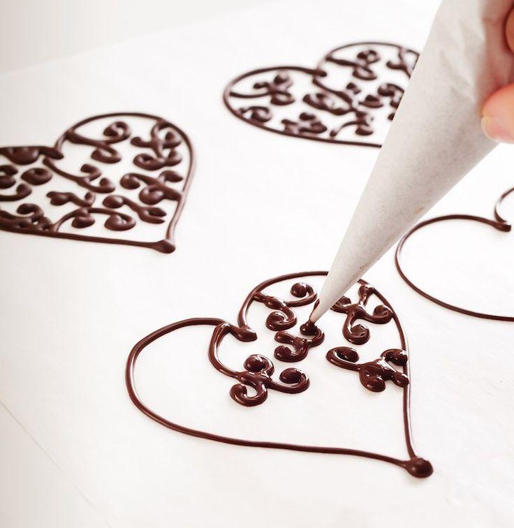 рисунки из шоколада своими руками этой роли хорошо