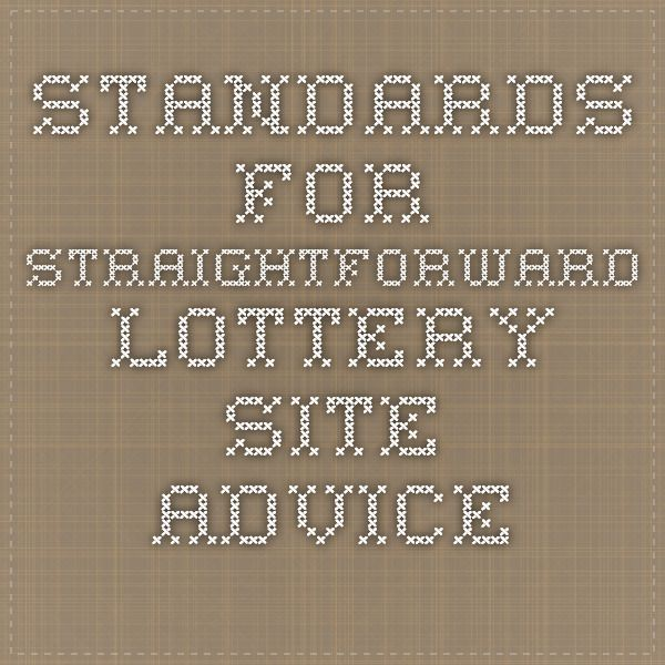 Standards For Straightforward Lottery Site Advice