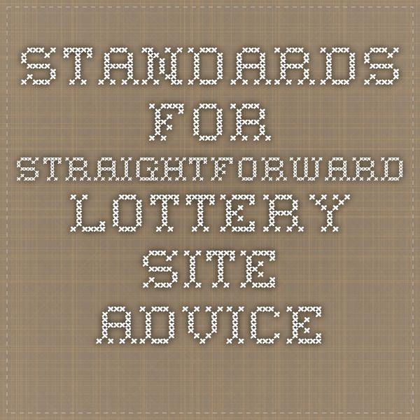 Standards For Straightforward Lottery Site Advice