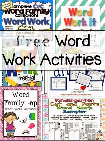 Freebie Friday - Word Work - An awesome list of great free activities to download and use to get your kids engaged with words!!