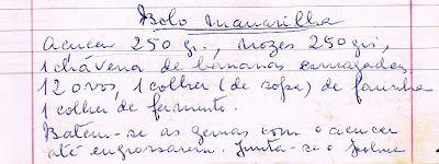As Receitas da Avó Helena e da Avó Eduarda: Bolo Maravilha