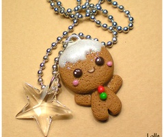 gingerman en pâte fimo #Noel #Christmas