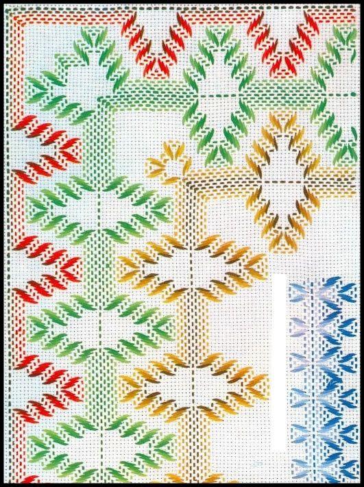 Vagonite - Punto Yugoslavo: Swedish Weaving, Punto Cruz Vagonit, Huck Weaving, Bordado Yugoslavo, Stitch Embroidery, Punto Yugoslavo, Huck Swedish Needle Weaving, Punto Filza, Bordado Yugoeslavo