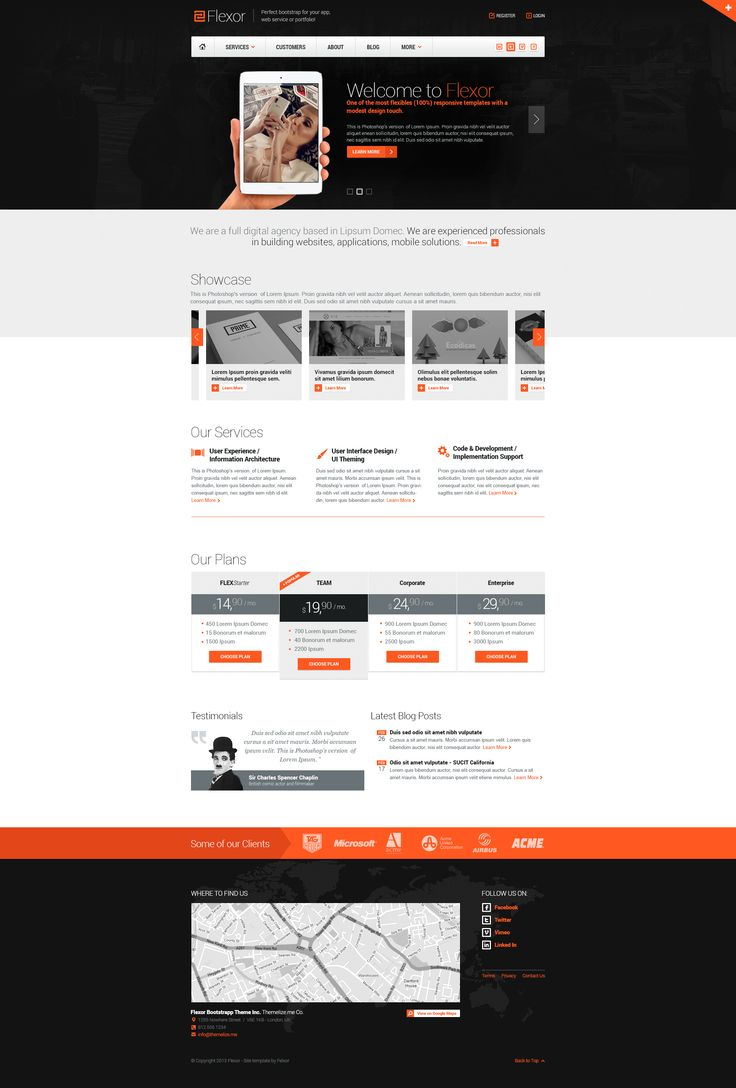 Shots from one of our older themes which we're now giving away for FREE (theme & PSD)! :)  Download theme & PSD: http://themelize.me/#flexor-bootstrap-theme