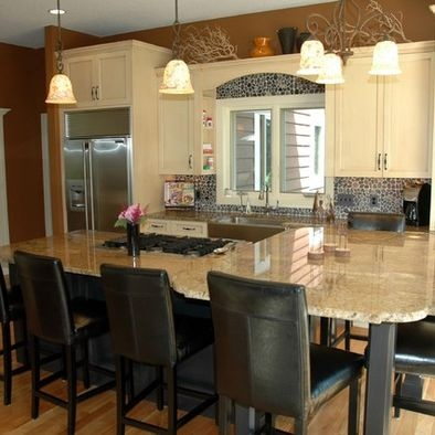multi level kitchen island for the home