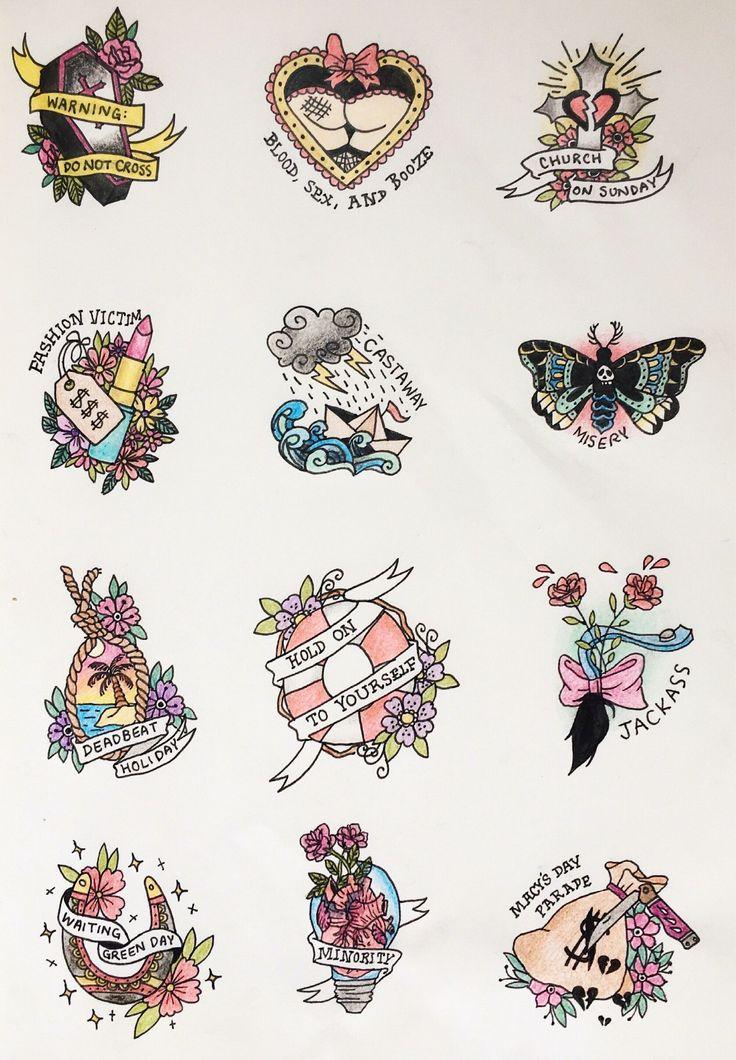 Green Day Warning Tattoos