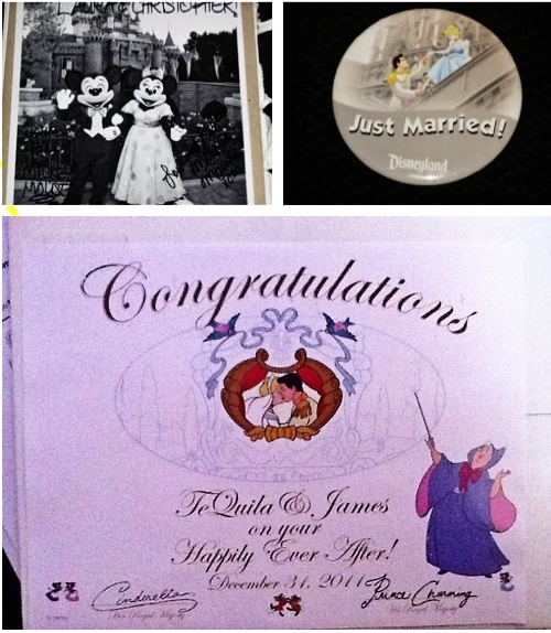 if you send Mickey and Minnie Mouse an invitation to your wedding they'll send you back an autographed photo and a 'Just Married' button?    Also, if you send Cinderella and Prince Charming an invitation, you'll get an autographed congratulatory certificate.    Here are the addresses:  Micky & Minnie  The Walt Disney Company  500 South Buena Vista Street  Burbank, California 91521    Cinderella and Prince Charming    P.O. Box 1000  Lake Buena Vista, Florida 32830