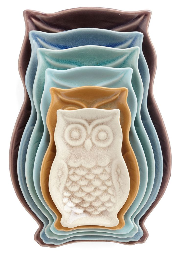 owls plate set //rstyle.me/n/qqh3dnyg6 assiettes céramiques  sc 1 st  Pinterest & 9532 best les chouettes images on Pinterest | Owls Barn owls and Owl