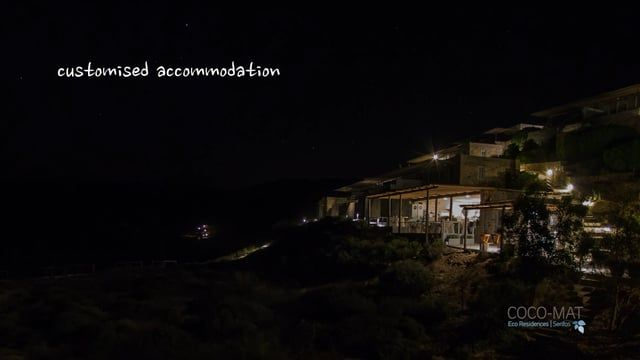 Short film about the accommodation of COCO-MAT Eco Residences Serifos. Director: Kostas Ntanis Production: coco-mat Executive production: LDS Productions & KN Productions