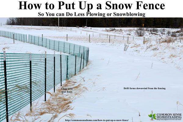 How to Put Up Snow Fence - Install Snow Fence to Keep Your Driveway Clear this Winter. Learn the do's and don'ts of snow fence installation and location.