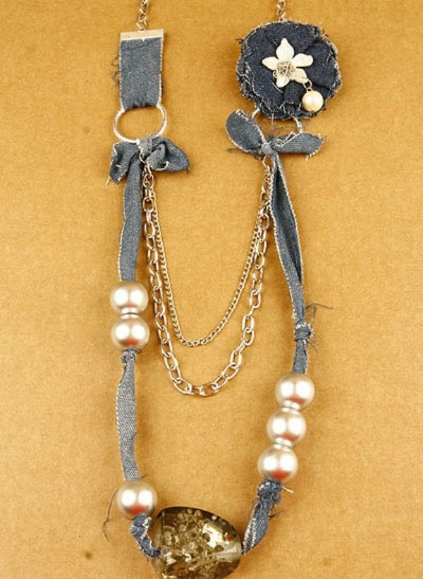 Dazzle with Denim Necklace
