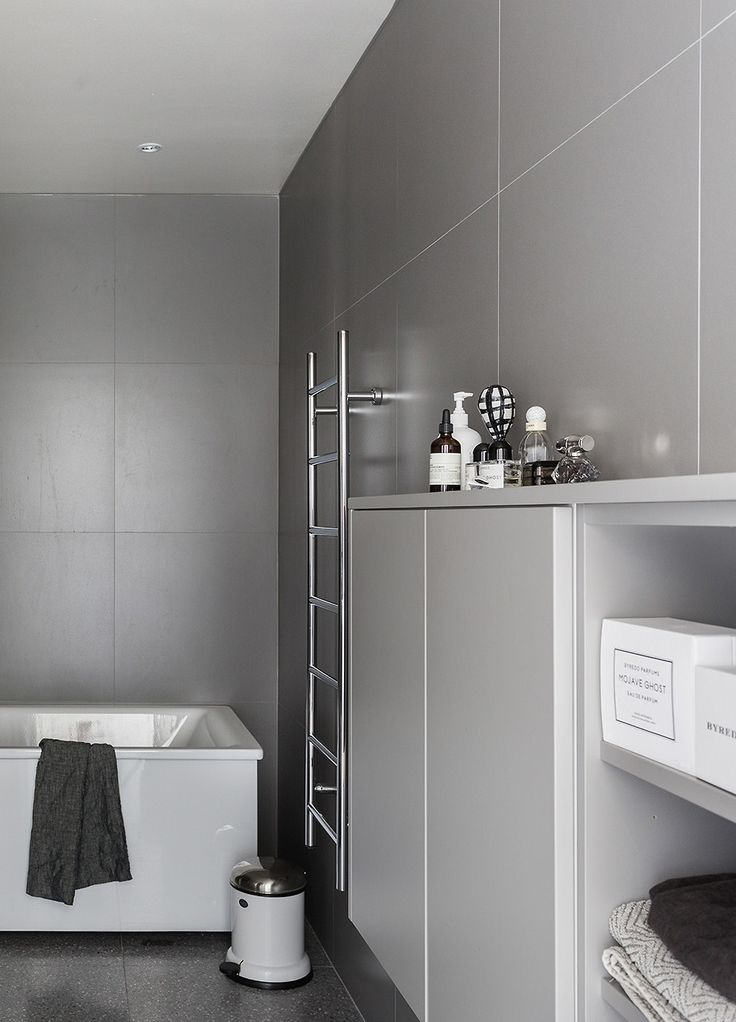Grey and pink in a new building - via cocolapinedesign.com