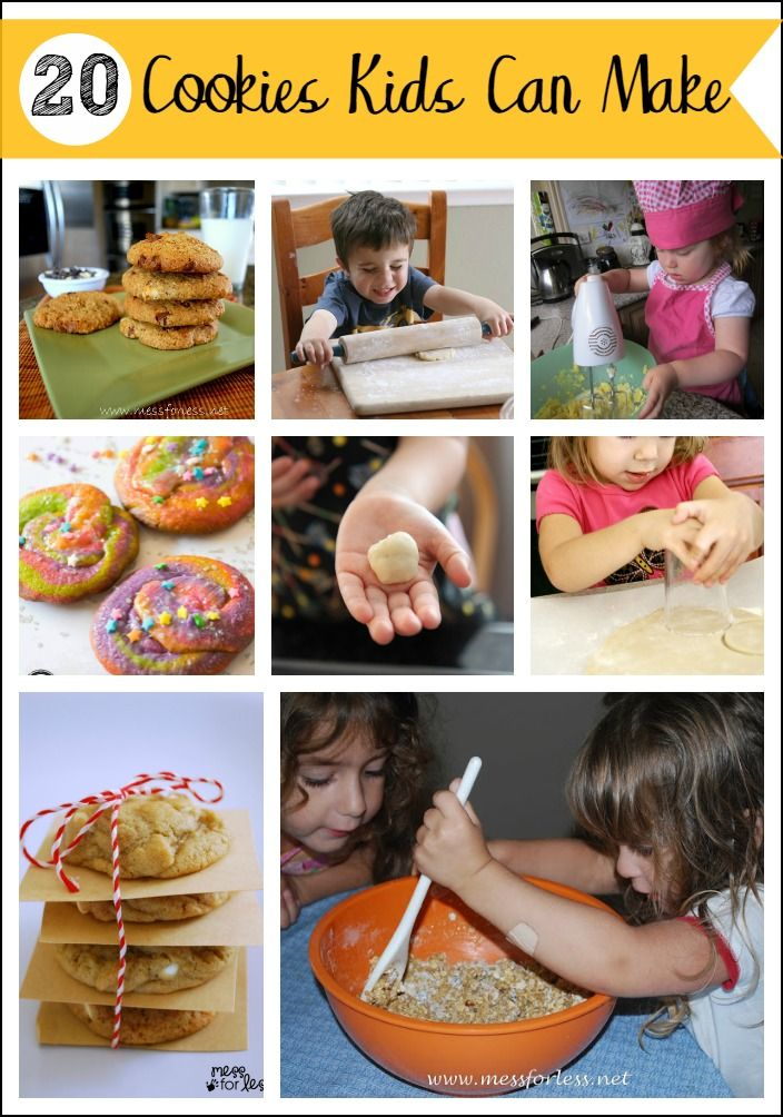 20 Cookies Kids Can Make - All of these delicious cookies have been baked by kids. Try them out with your child for a fun bonding experience!