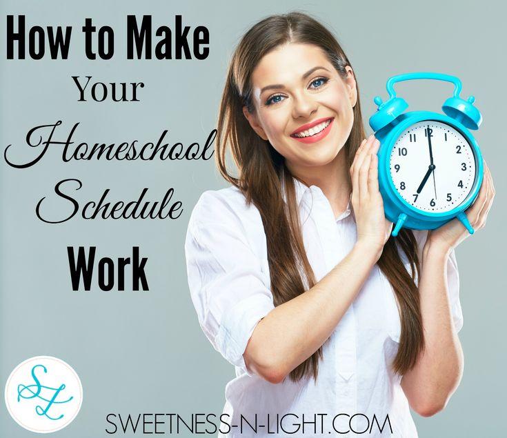 How to Make Your Homeschool Schedule Work