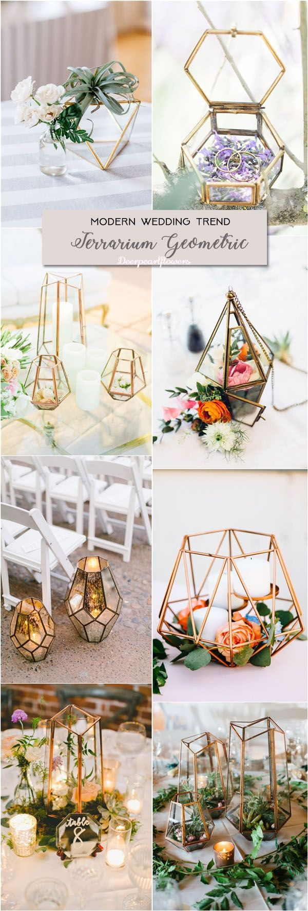 terrarium geometric wedding ideas for modern weddings / http://www.deerpearlflowers.com/modern-wedding-theme-ideas/