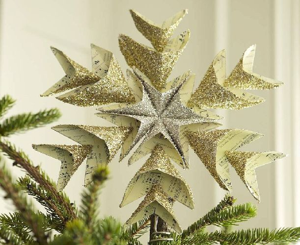 55 Best Christmas Tree Topper Images On Pinterest Christmas Tree  - Make A Christmas Star Tree Topper