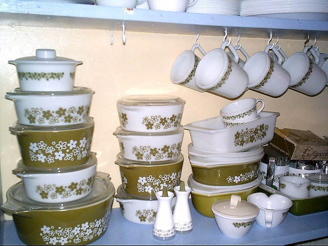 And of course, any re-vamp has to accommodate my Crazy Daisy Corelle dishes