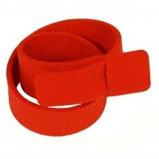 Yes, please // Felt bracelet Gewoon Len red double at Mikkili online design