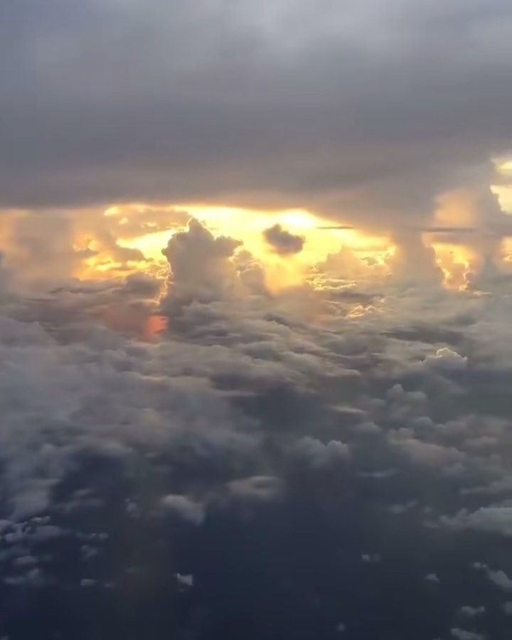 sunset airplane window drawing