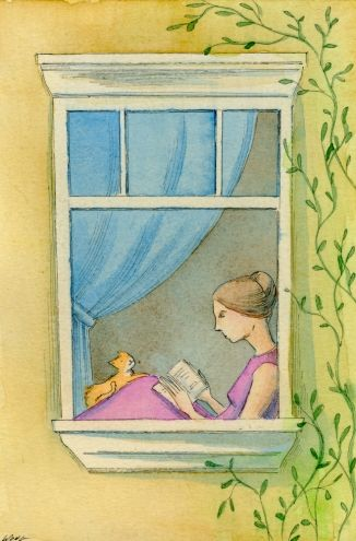 Reading by the window -- Nicole Wong