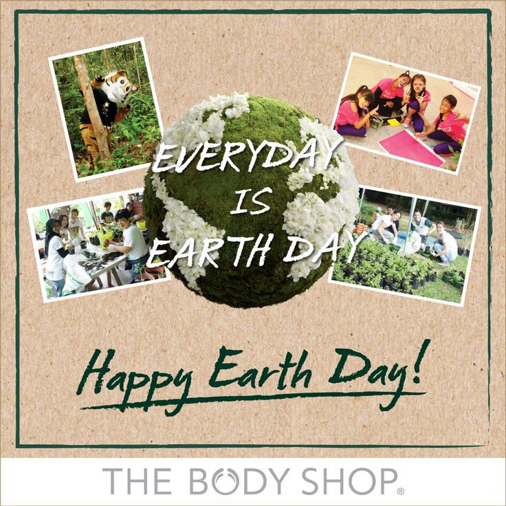 """We do not inherit the Earth from our Ancestors, we borrow it from our Children."" ~Ancient Indian Proverb~  Happy Earth Day 2015 from The Body Shop Malaysia!"