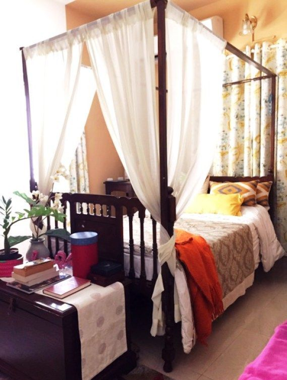 master bedroom an antique wooden chest at the foot serves as rh pinterest com