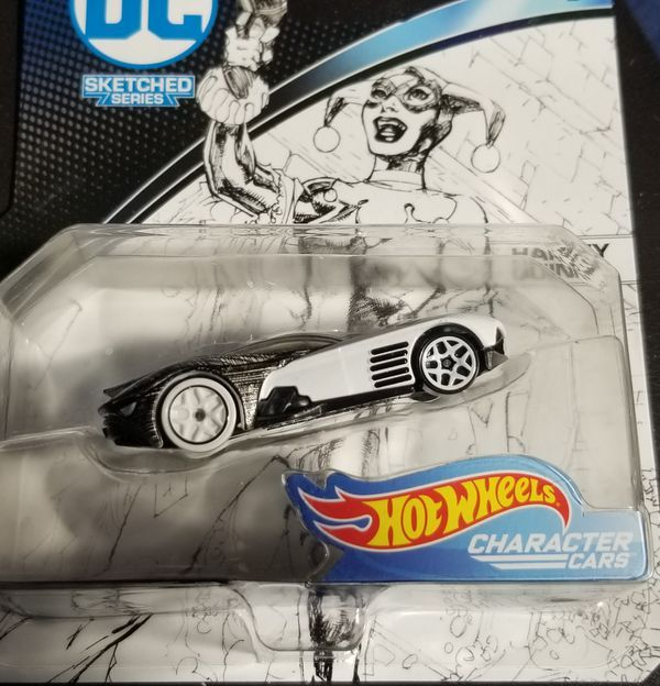 Hot Wheels Character Cars DC Sketched Series Set Of 5Joker Superman Batman