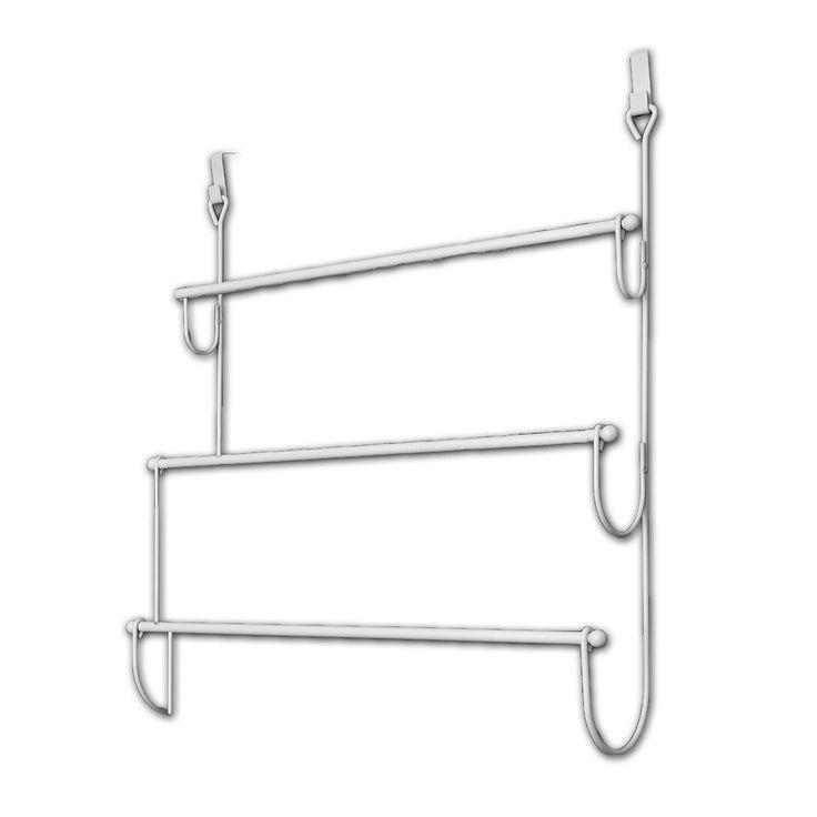 Evideco Over the Door Towel Rack Organizer 3 Bars