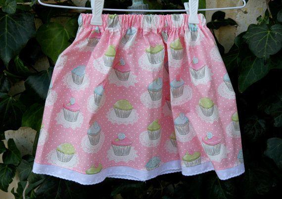 Sweet Pink Cupcake Skirt Size 4