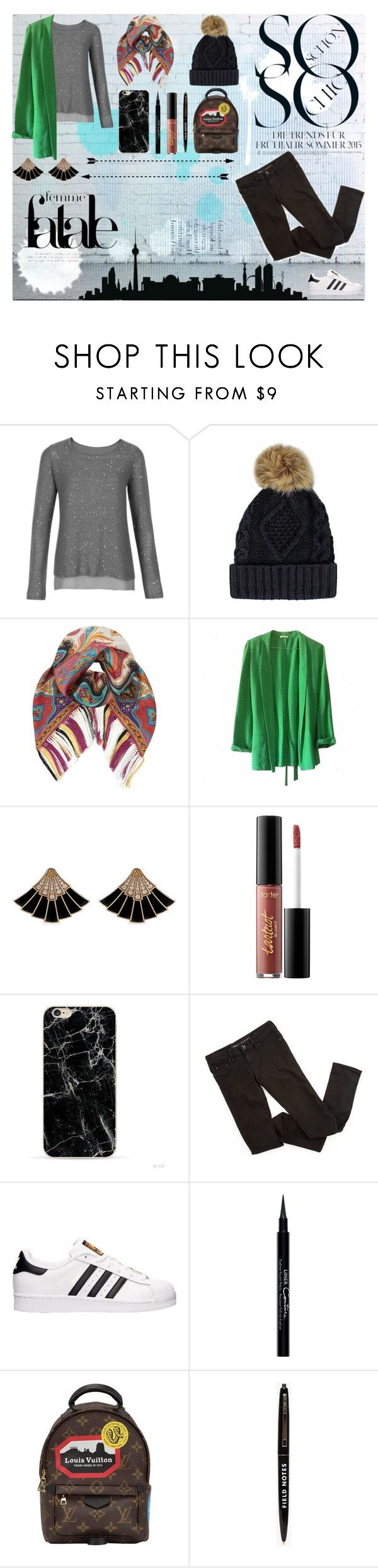 """""""Berlin Style"""" by claralodesky ❤ liked on Polyvore featuring Etro, American Vintage, tarte, adidas, Givenchy and Louis Vuitton"""