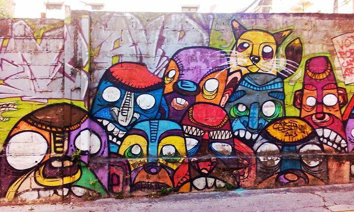 Really cool street art at Panama