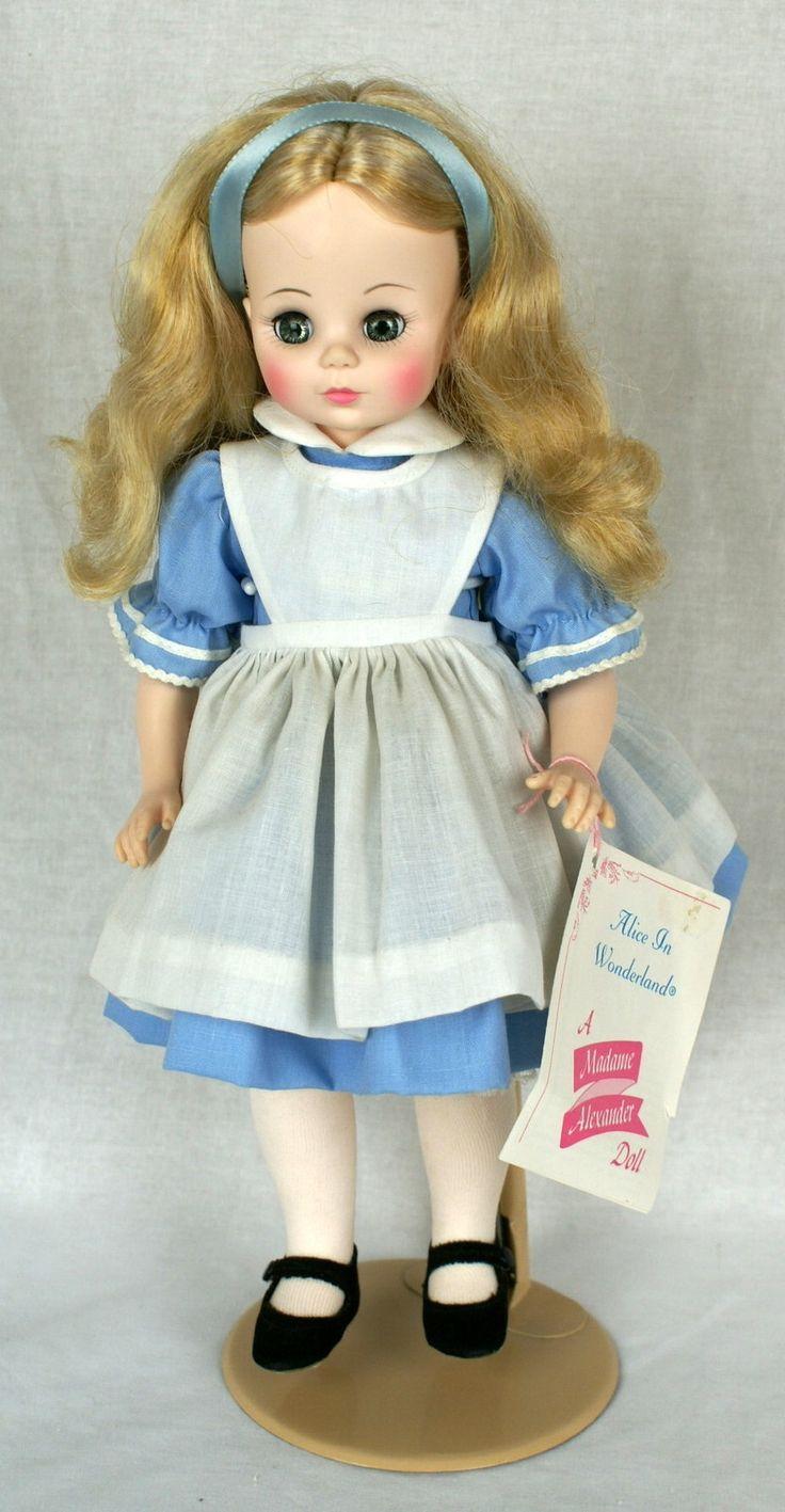 Vintage Madame Alexander ALICE in WONDERLAND Doll 1960's Original Hang Tag Blue