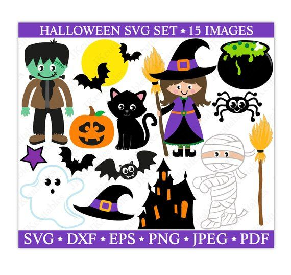 Halloween Svg Files Witch Svg Cat Svg Ghost Svg Bat Svg Etsy Halloween Images Halloween Clipart Halloween
